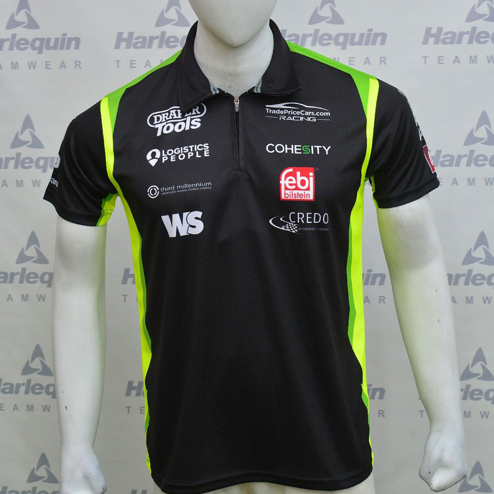 2021 Excelr8 TradePriceCars Polo Shirt (Yellow & Green)