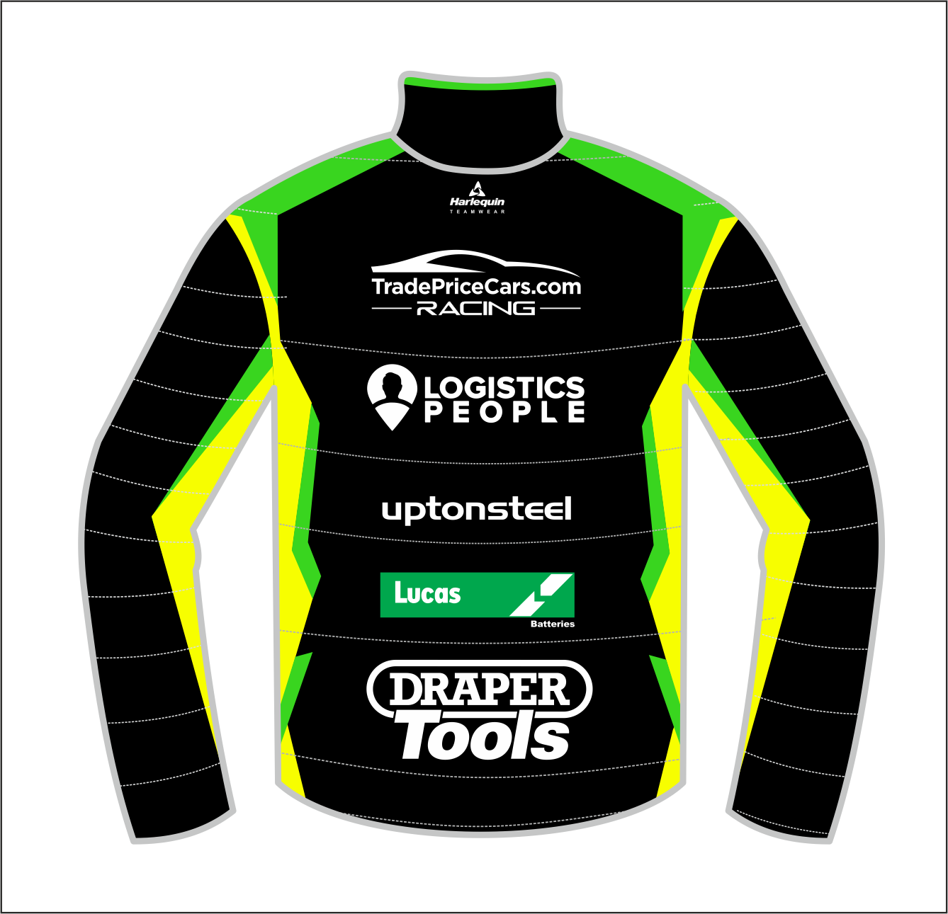 2021 Excelr8 TradePriceCars Puffer Jacket (Yellow & Green)