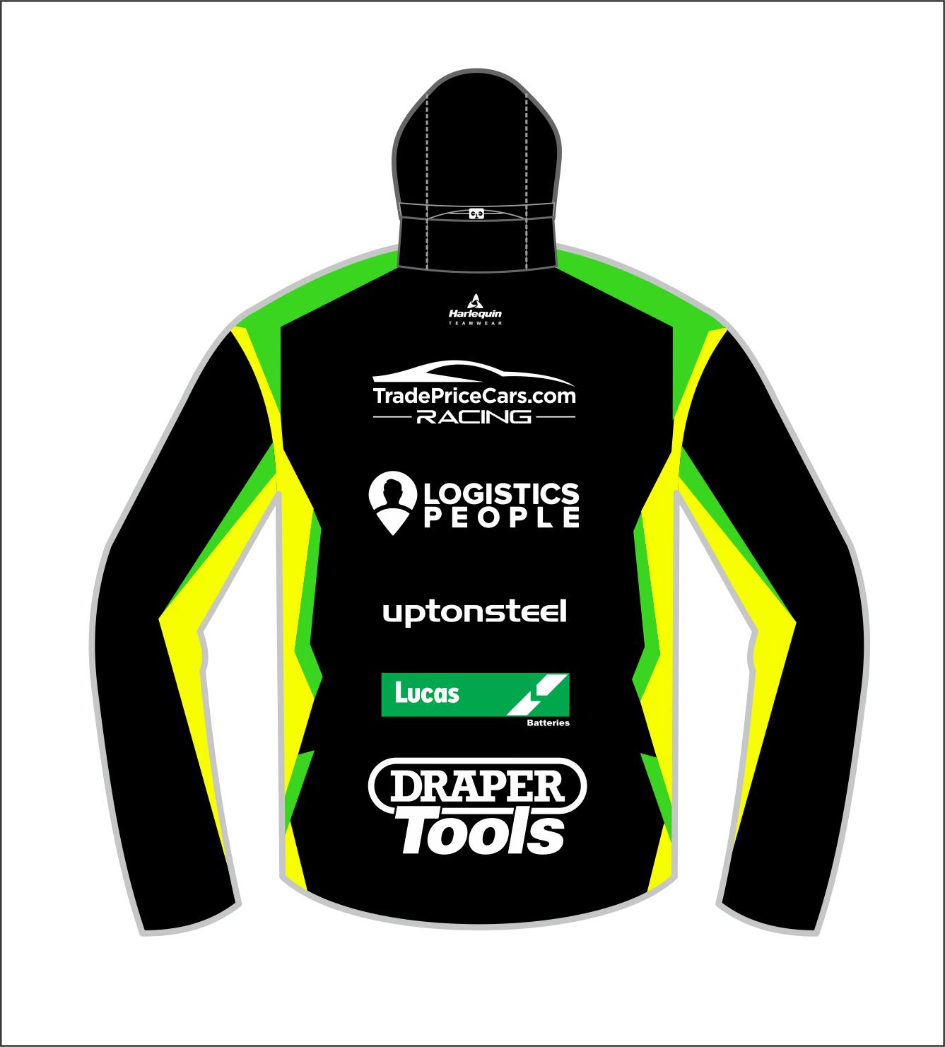 2021 Excelr8 TradePriceCars Rain Jacket (Yellow & Green)