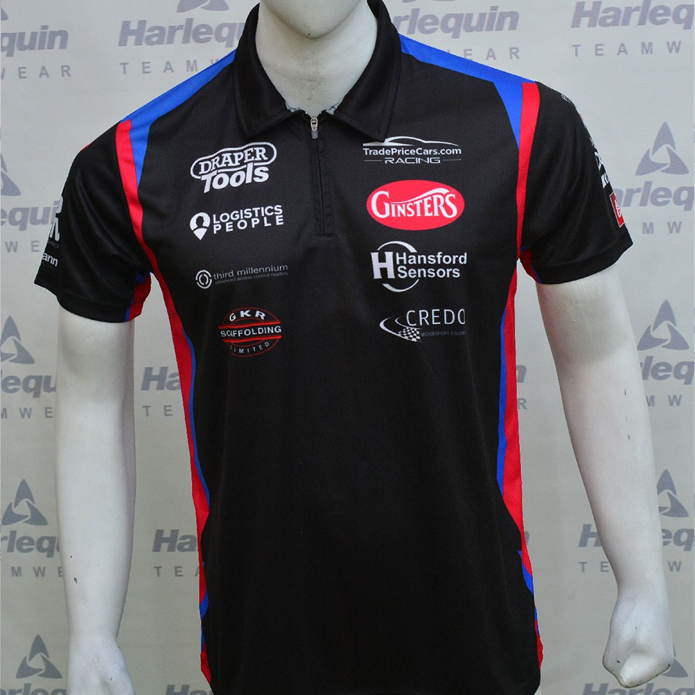Excelr8 TradePriceCars 2021 Polo Shirt (Blue & Red)