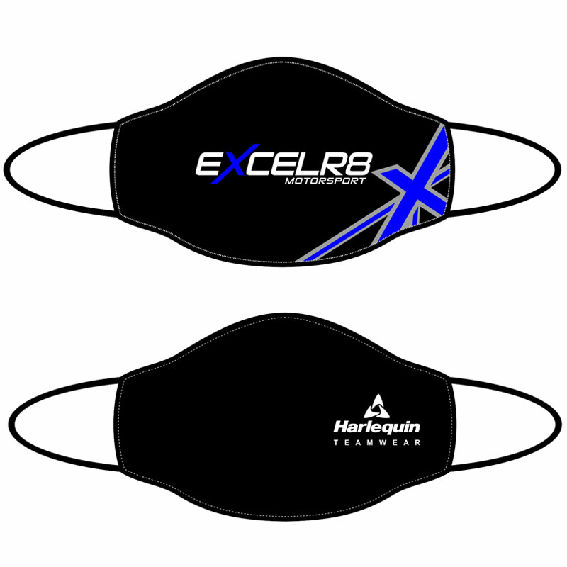 Excelr8 Motorsport Face Masks