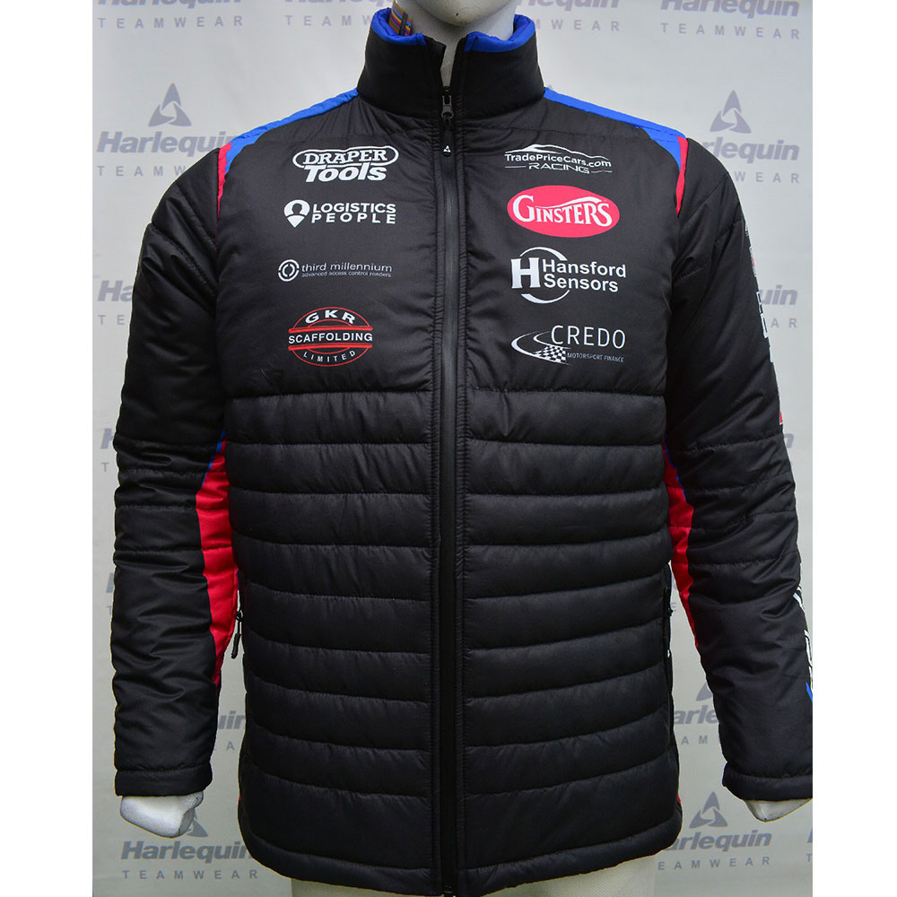 2021 Excelr8 TradePriceCars Puffer Jacket (Blue & Red)
